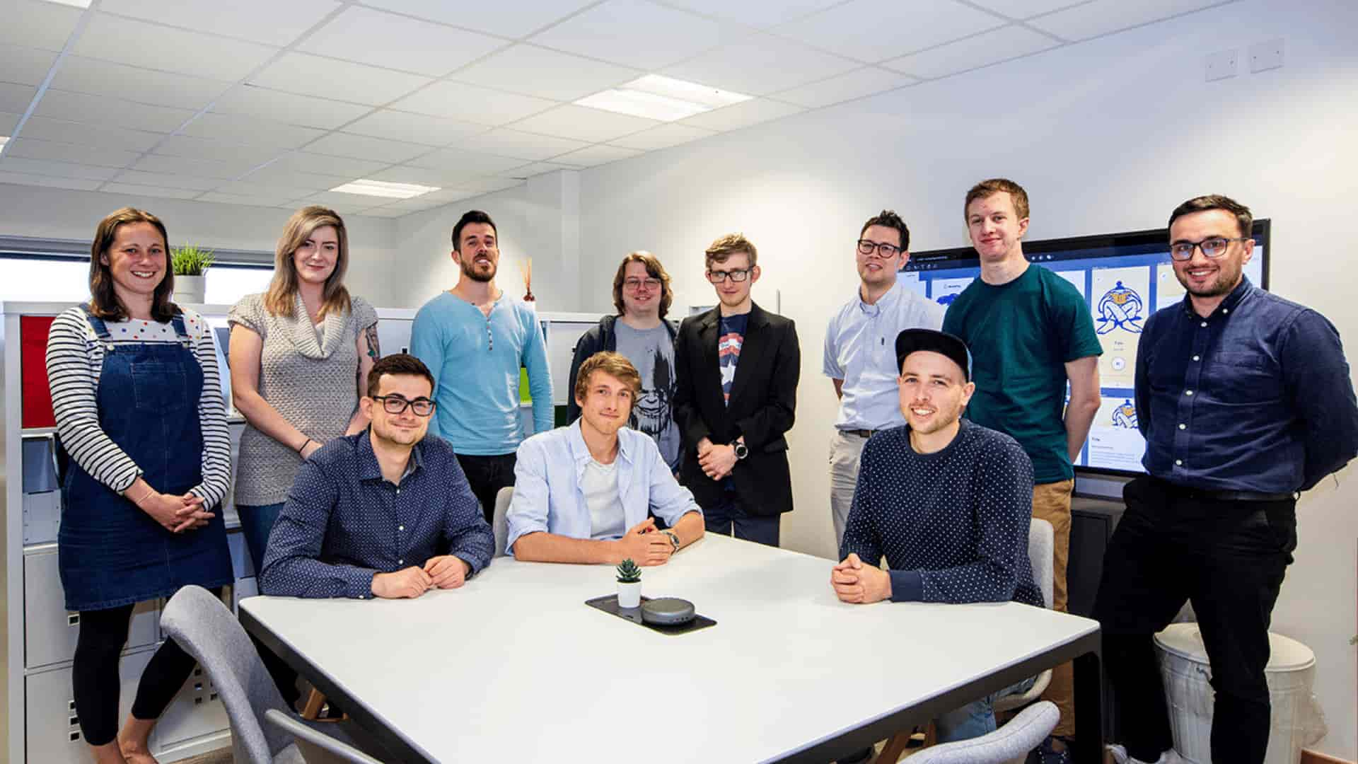 The Hiyield team photograph in their office